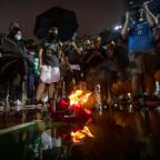 Furious Hong Kong protesters burn LeBron James jersey over free speech comments