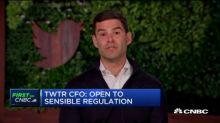 Twitter CFO Ned Segal: We are open to sensible regulation
