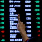 Asia shares edge up, pound gets moment's peace