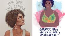 Vereadora Marielle presente em 11 ilustrações na luta por direitos humanos