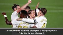 37e j. - Le Real Madrid champion d'Espagne !