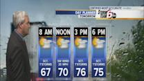 Cooler temps Wednesday, storms possible