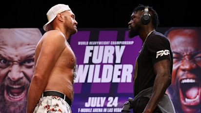 Fury-Wilder staredown a peek of what's ahead