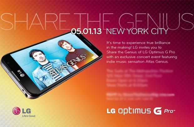 LG's NYC press event aims to 'share the genius' of the Optimus G Pro