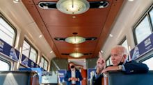 On a Rust Belt train tour,  'Amtrak Joe' Biden pitches to working class voters left behind by Trump