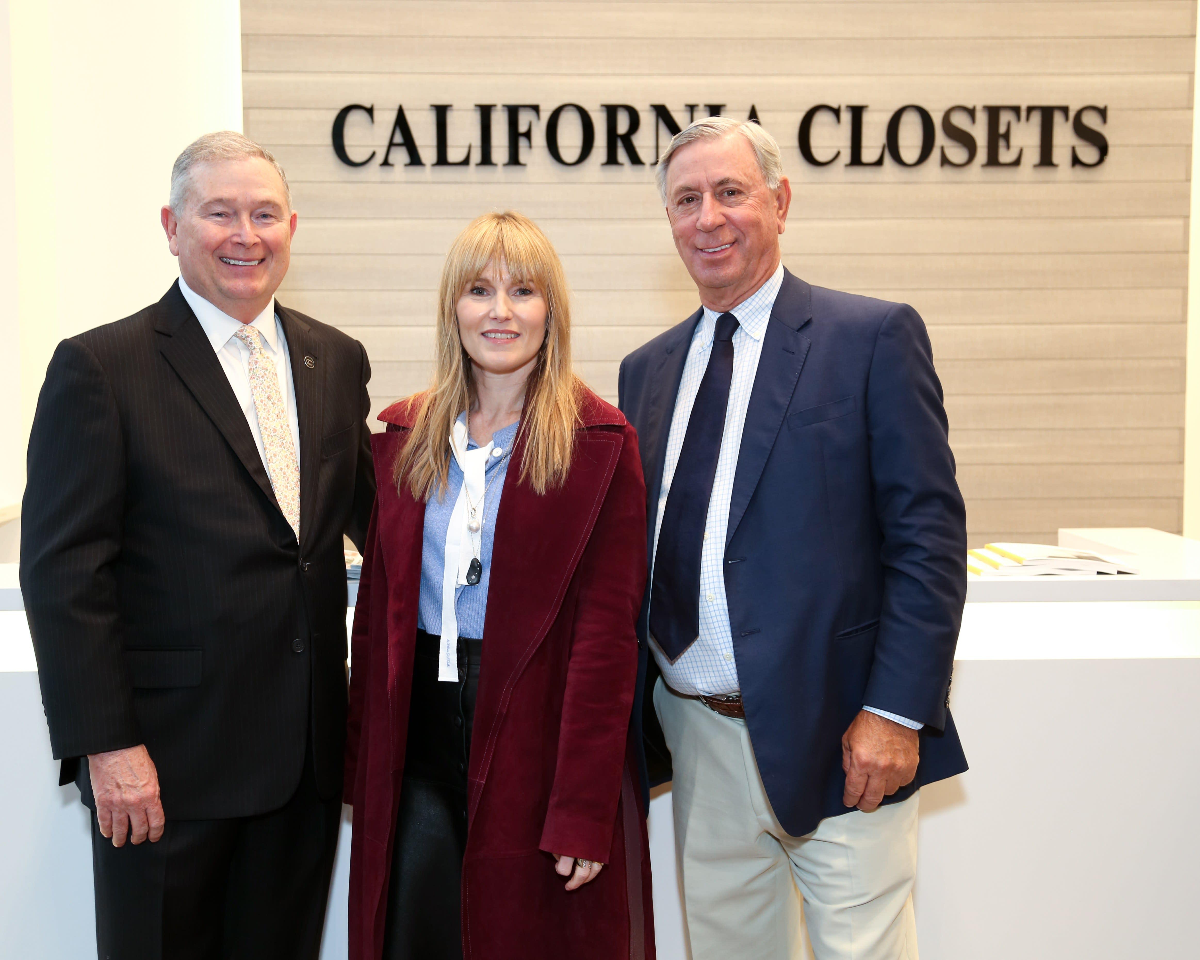 AD Editor in Chief Amy Astley with California Closets CEO Bill Barton and California Closets NY owner Bob Westenberg