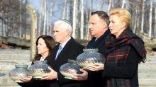 Pence visits Auschwitz after saying Iran plotting 'new Holocaust'