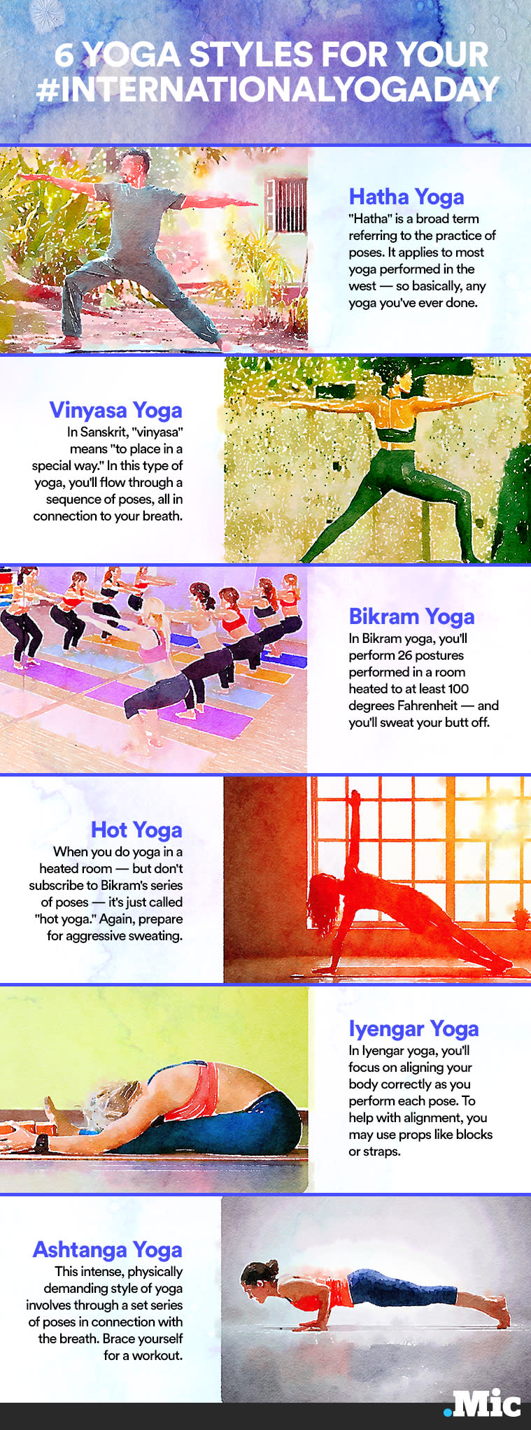 All Types Of Yoga From Bikram To Vinyasa To Iyengar Explained In One Chart