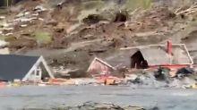 Homes Destroyed After Powerful Landslide Strikes Norway's Northern Coast