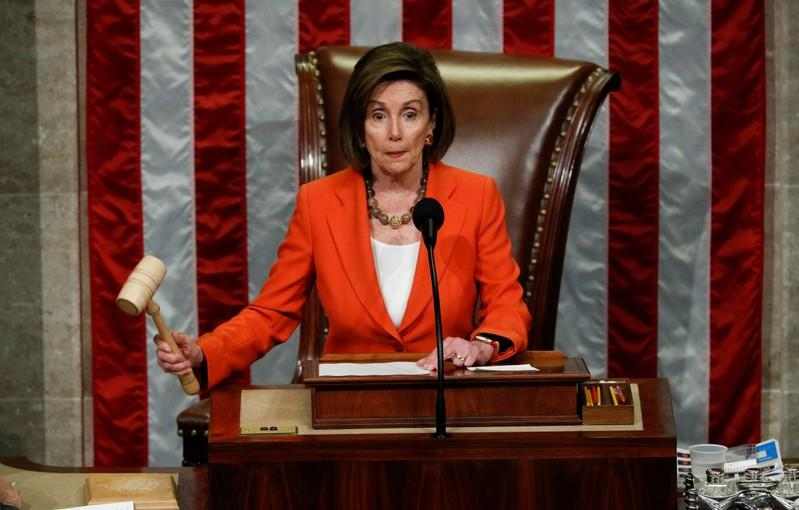 Pelosi says Trump's Ukraine actions amount to `bribery'