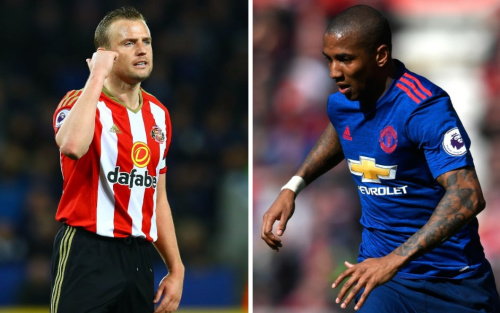 Can Lee Cattermole stop Ashley Young? Without also assaulting him? - REX, GETTY IMAGES