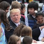 Trump tells child at Easter Egg Roll the border wall is 'being built now'