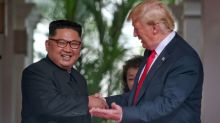 In surprise summit concession, Trump says he will halt Korea war games