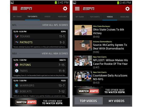ESPN brings new interface to ScoreCenter for Android and iOS