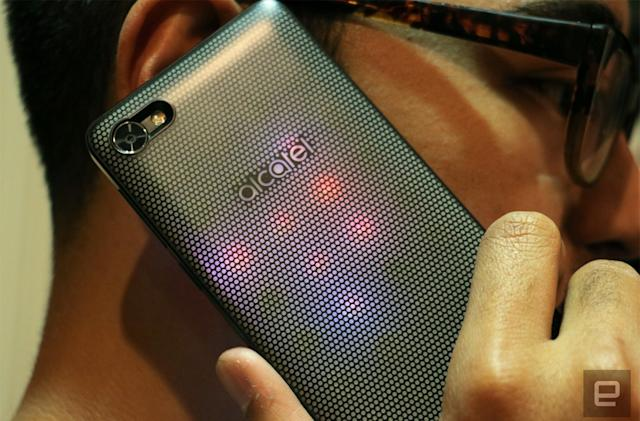 Alcatel made an affordable modular phone studded with LEDs