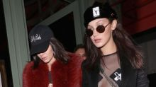 Kendall, Bella and Hailey hit London in grungy looks