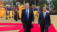 South Korean president praises Donald Trump as talks with the North resume