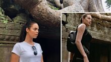 Woman looks like Angelina Jolie as Lara Croft, and the internet can't handle it