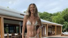 Paulina Porizkova, 56, shows off toned abs in bikini and gets real about aging: 'I do want to make the best of what I was given'