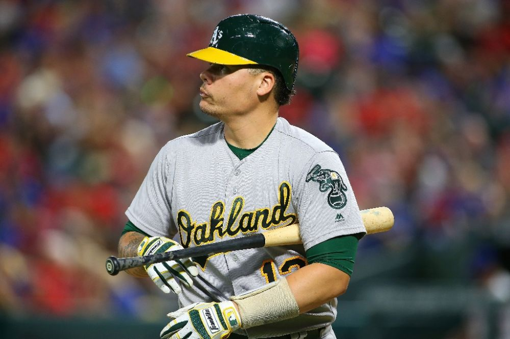 Oakland Athletics catcher Bruce Maxwell has been indicted by an Arizona grand jury. (AP)