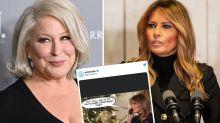 Bette Milder blasted for 'racist' Melania Trump tweet