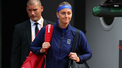 Contrasting emotions for Kvitova and Kerber on day one in Paris