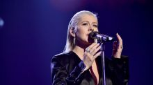 Christina Aguilera was almost unrecognisable with minimal make-up at the AMAs