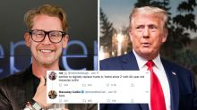 Macaulay Culkin reacts to calls to cut Trump from Home Alone 2