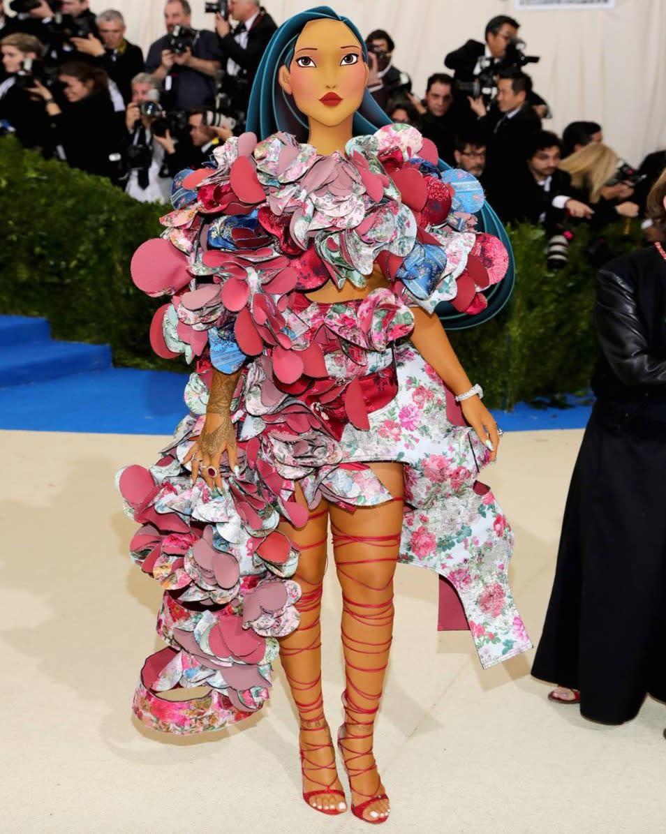Artist Transforms Met Gala Celebs Into High Fashion Disney Princesses