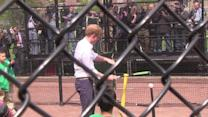 Prince Harry Scores as He Plays Baseball in New York City
