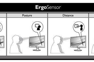 Philips' new ErgoSensor desktop display demands that you sit up straight