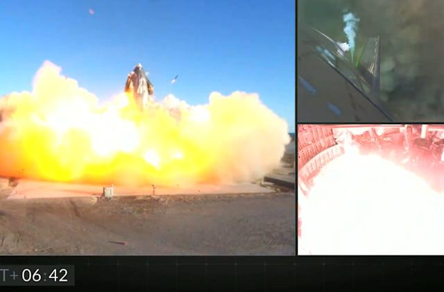 SpaceX Starship high altitude test flight ends in a fiery explosion