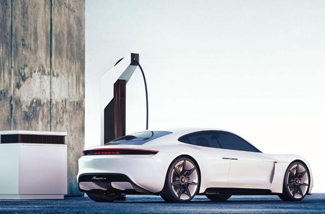 Porsche unveils fast, low-cost 'pit stop' EV charging stations