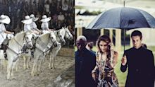 Horses walked the runway at Dior's cruise show