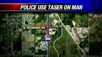 Taser used on naked man in Norman