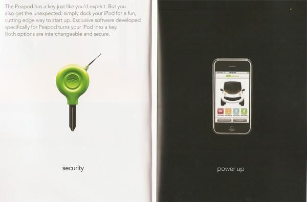 Chrysler's Peapod EV lets iPod double as ignition key