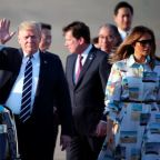 Trump arrives in Japan for ceremonial visit as trade tensions loom