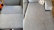 'Like porn': Grubby couch transformed using 'magic' product