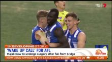 Majak Daw to undergo surgery after fall from bridge