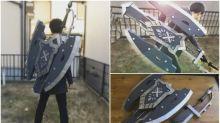 【有片】電動變形!日本高手自製《Monster Hunter》充能斧