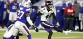 Ravens kicker Justin Tucker is almost automatic, but he had trouble with the wind in Buffalo. (AP)