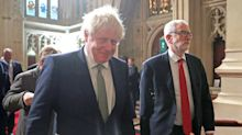 Jeremy Corbyn blanks Boris Johnson during excruciatingly awkward walk ahead of Queen's Speech