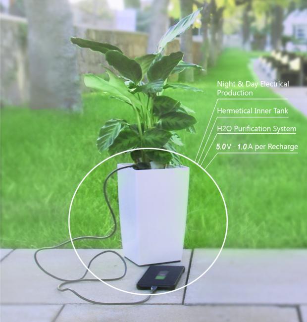 Bioo: Smartphone mit der Topfpflanze laden