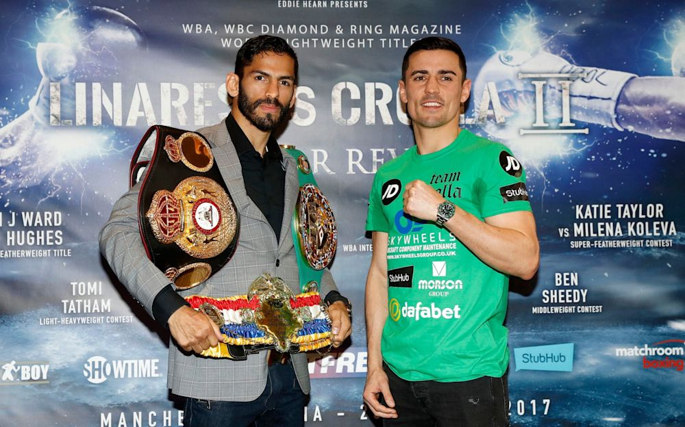Jorge Linares and Anthony Crolla are fighting for the WBA world lightweight title - PA