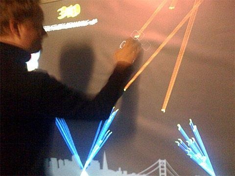 Wall-sized, multi-touch 'Missile Command' -- every gamer's fantasy