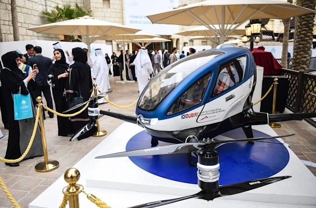 Passenger drones will begin flying over Dubai this summer
