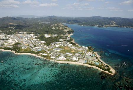 File photo of coral reefs seen along the coast near the U.S. Marine base Camp Schwab off the tiny hamlet of Henoko in Nago