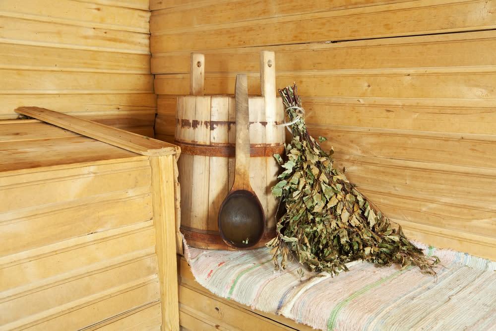 Картинки русская баня с веником