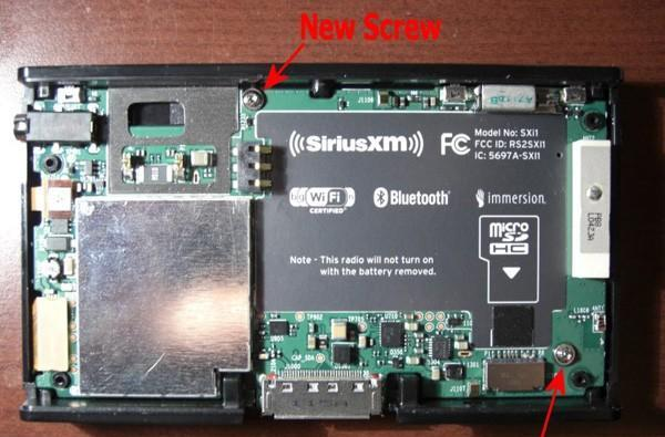 Sirius XM Lynx strips down for the FCC, flaunts new screws