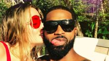 Swimsuit-Clad Khloé Kardashian Snuggles Up to Shirtless Tristan Thompson: 'All My Love'